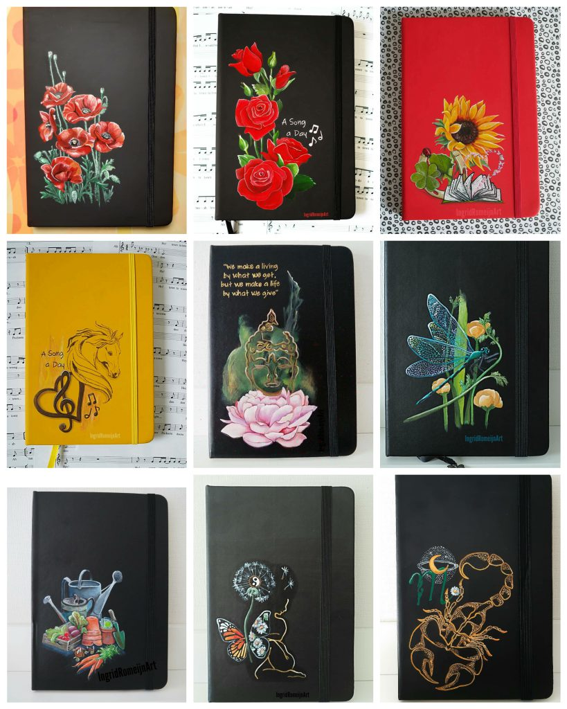 Gepersonaliseerde Notebooks- Handpaintend