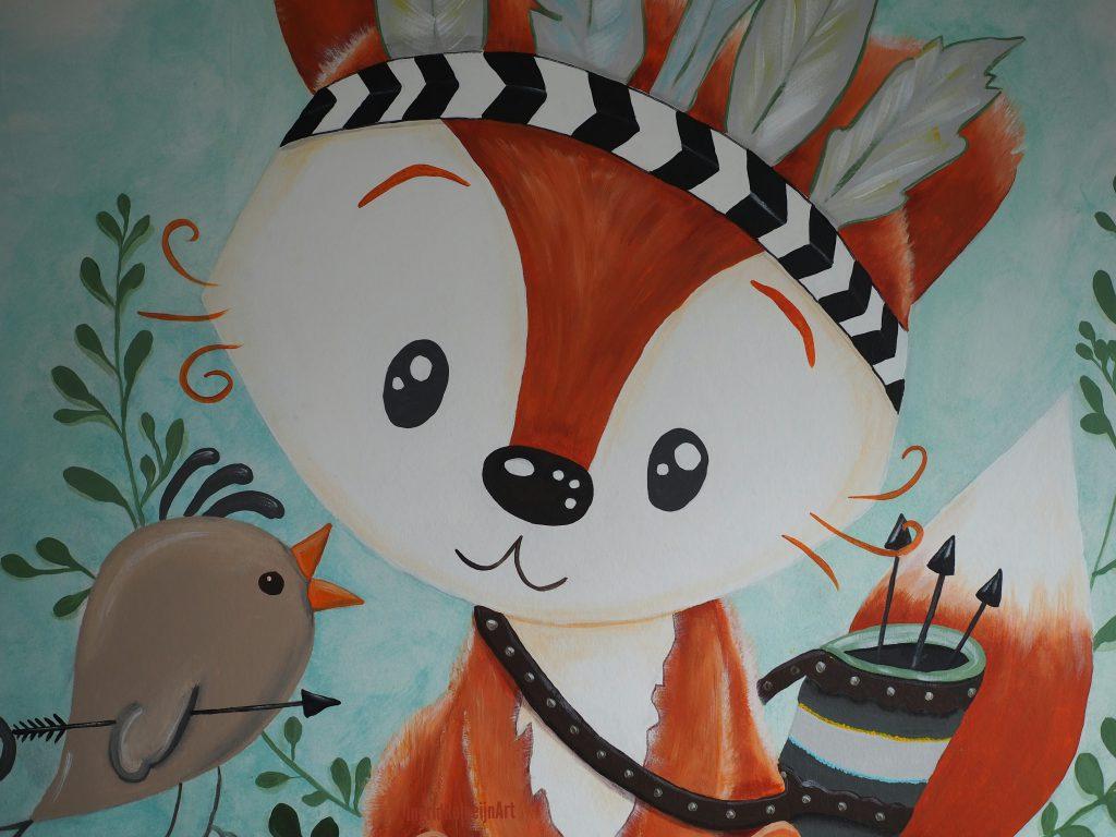 Baby Fox Muurschildering